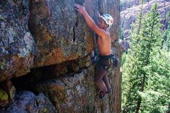 Rock Climbing Photo: on protege great photo right after clipping on the...