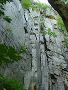 Rock Climbing Photo: This photo shows the entire route (without the opt...