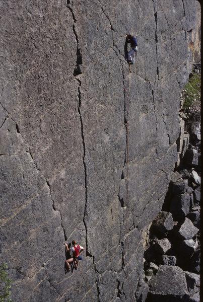 Figures on a Landscape- Lancashire style.<br> Trowbarrow Quarry.  Stuart Butler and Bernard Newman, 1982