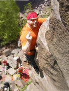 Rock Climbing Photo: Smile for the camera.  Me topping out of Pice of C...