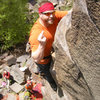Smile for the camera.  Me topping out of Pice of Cake, Taylors Falls MN<br>