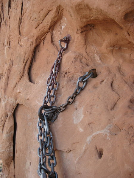 Rock Climbing Photo: One of the more interesting anchors i've seen.