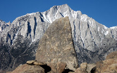 Rock Climbing Photo: Shark's Fin and Lone Pine Peak. Photo by Blitzo.