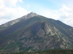 Rock Climbing Photo: Mount Royal (10600 feet) foreshortened in the fore...