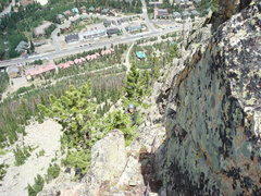 Rock Climbing Photo: A view down into town near the top.