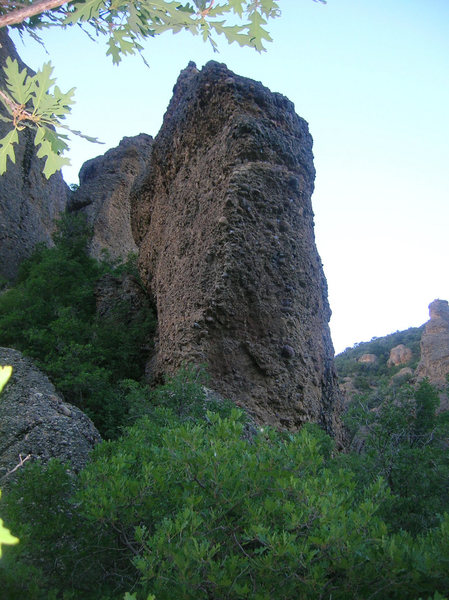 Simpson Rock.<br> The Steep Face holds the two 12's.  <br> The left (west) face has two 11's