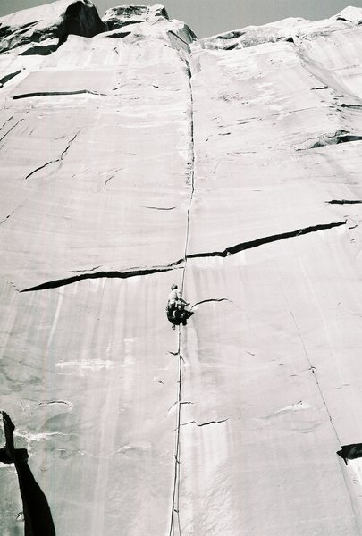 Rock Climbing Photo: Me on coyne crack back in 06 -photo by Mike Sherid...