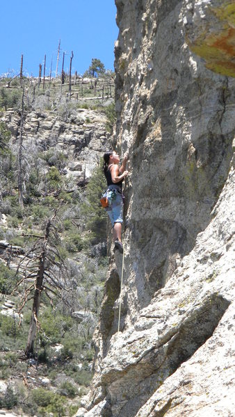 Rock Climbing Photo: Leading In Lightning