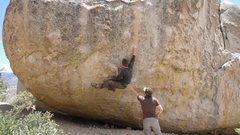 Rock Climbing Photo: JS on High Plains Drifter, Buttermilks.