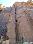 Rock Climbing Photo: good hand jam before crack switch.