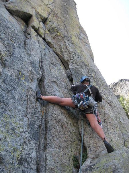 Rock Climbing Photo: The start of Devaluation.