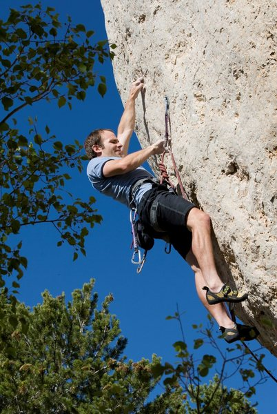 Rock Climbing Photo: Sweet pockets on beautiful stone.