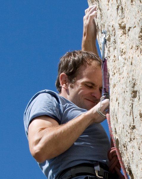 Rock Climbing Photo: This is me having fun.