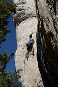 Rock Climbing Photo: The engaging vert finish.