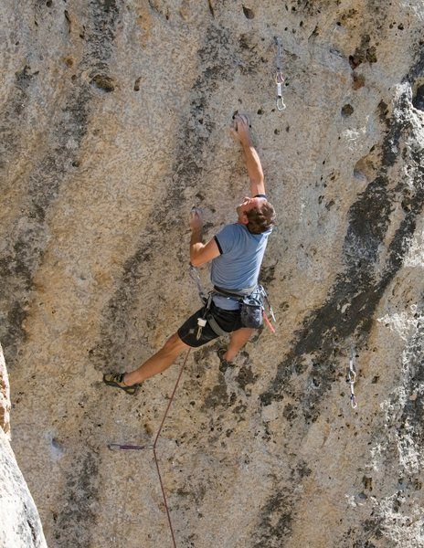 Rock Climbing Photo: The crux lunge.