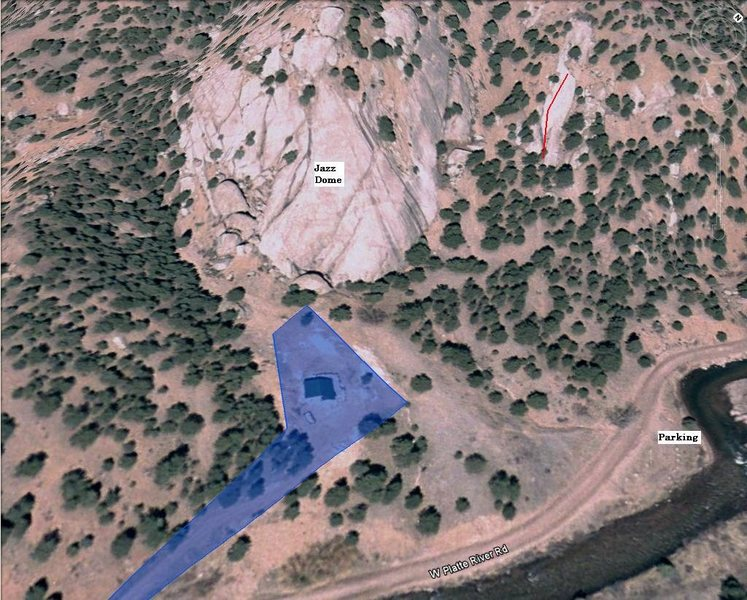 Rock Climbing Photo: Location of private land.
