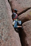 Rock Climbing Photo: First Trad Follow at Vedawoo- Edward's Crack