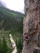 Rock Climbing Photo: Sport Climbing at Lake Louise, Canada