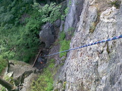 Rock Climbing Photo: top of shealyns way looking down @jeremy