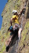 Rock Climbing Photo: Me leading pitch 4 of Rewritten.