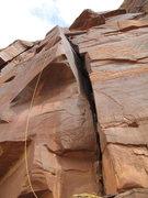 Rock Climbing Photo: at the sweet hang up top.