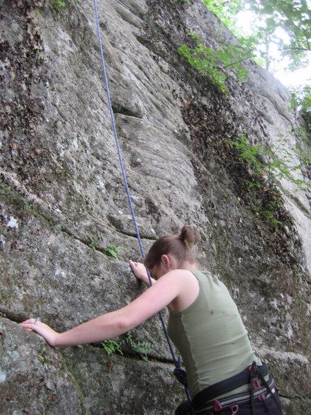 Courtney starting to climb