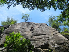 Rock Climbing Photo: Lee on the lead of Junco