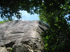 Rock Climbing Photo: Lee relaxing on Lonesome Dove