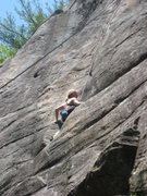 Rock Climbing Photo: Katrina in the middle of the Junco