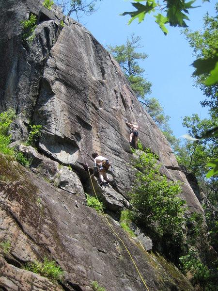 Rock Climbing Photo: Lee on Hammond's and Katrina on Junco