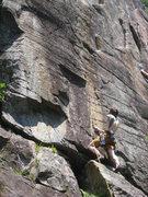Rock Climbing Photo: Lee on the start of Hammond's Organ