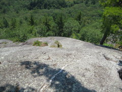 Rock Climbing Photo: Looking down from the top