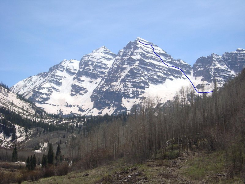 Climb/ski of North Maroon Bell