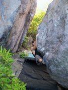 "Rock Climbing Photo: Aaron Parlier working through the ""Highlands ..."
