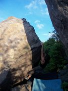 Rock Climbing Photo: Aaron Parlier about to climb up the top arete port...