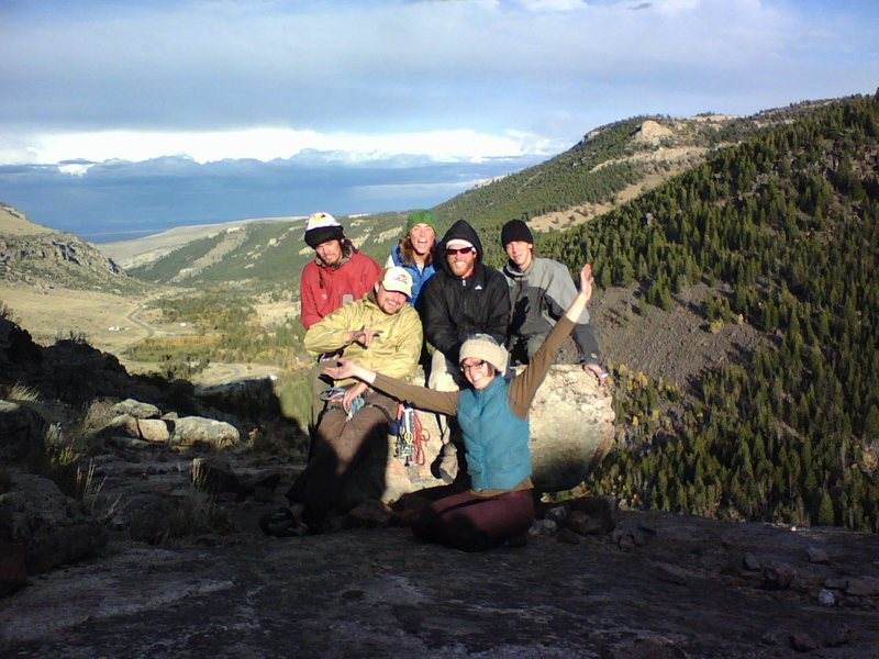Atop the Gneiss outcropping at the SW end of Sinks Canyon, Outside of Lander, WY. Group Photo