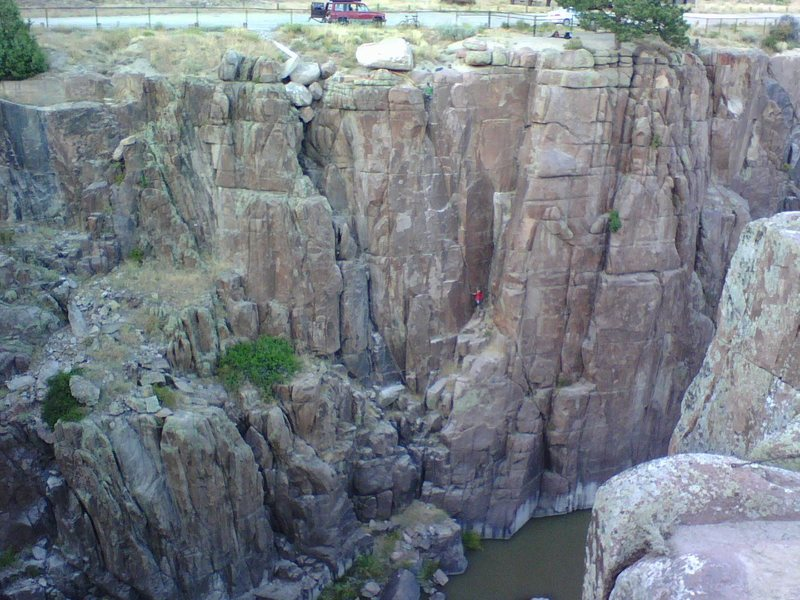 Rock Climbing Photo: B-25, Fremont Canyon, WY