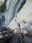 Rock Climbing Photo: First pitch of Yellow Brick Rd.  The climber in ye...