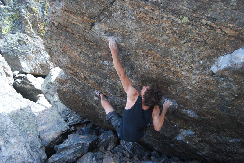 Ryan working the crux move.
