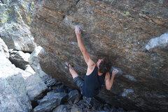 Rock Climbing Photo: Ryan working the crux move.