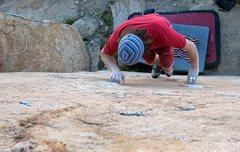 Rock Climbing Photo: Triangle Face (V1), Mt. Rubidoux