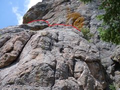 Rock Climbing Photo: The ramp that begins on the east and leads to the ...