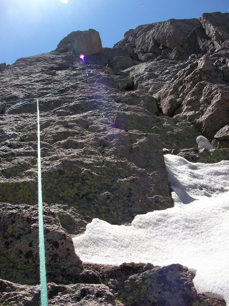 Rock Climbing Photo: Out of the Notch and working our way to the summit...