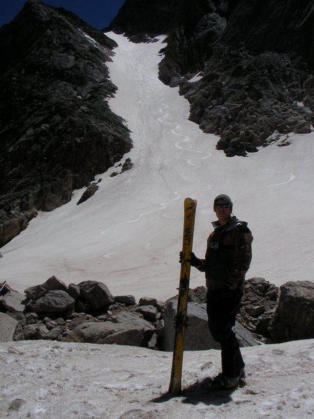 At the base of Lambslide Longs Peak.
