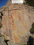 Rock Climbing Photo: Routes in The Golden Hall behind and on top of the...