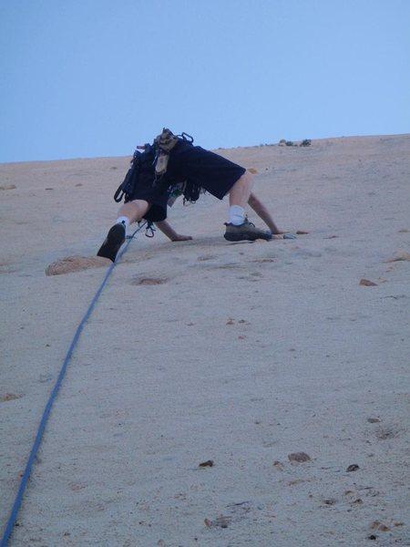 Rock Climbing Photo: Mormon Rocks mystery route