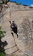 Rock Climbing Photo: Tom Lane shows off his arsenal on Gun Show.