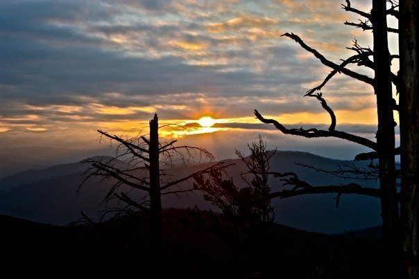 Rock Climbing Photo: Sunset from Table Rock