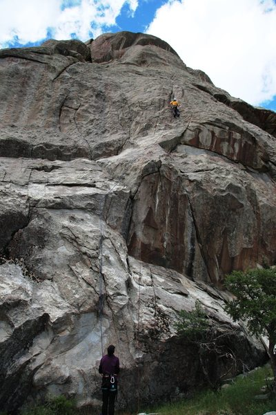 Rock Climbing Photo: The route...
