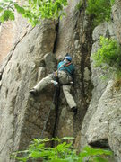 Rock Climbing Photo: Jay Harrison making his way up the lower moves on ...